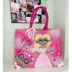 Ultimate Bride To Be Large KPink Jute Bag